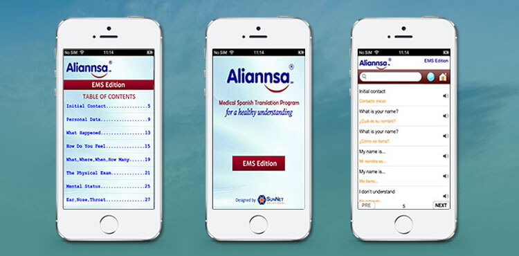 SunNet portfolio includes Aliannsa's mobile application for a spanish translation program.