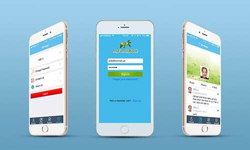 Myfamilybook is a social media mobile app developed by SunNet Solutions.