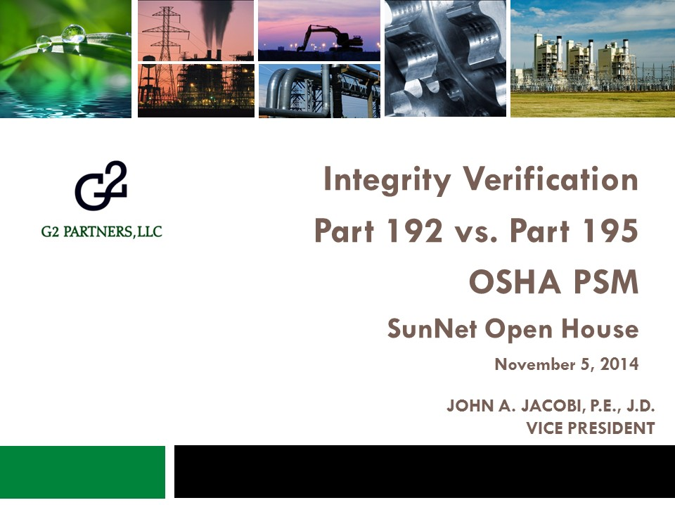 Powerpoint presentation on Integrity Verification for SunNet Open House.