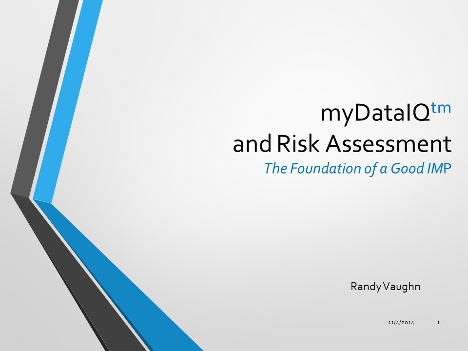 SunNet Solutions' powerpoint presentation on myDataIQ and Risk Assessment.